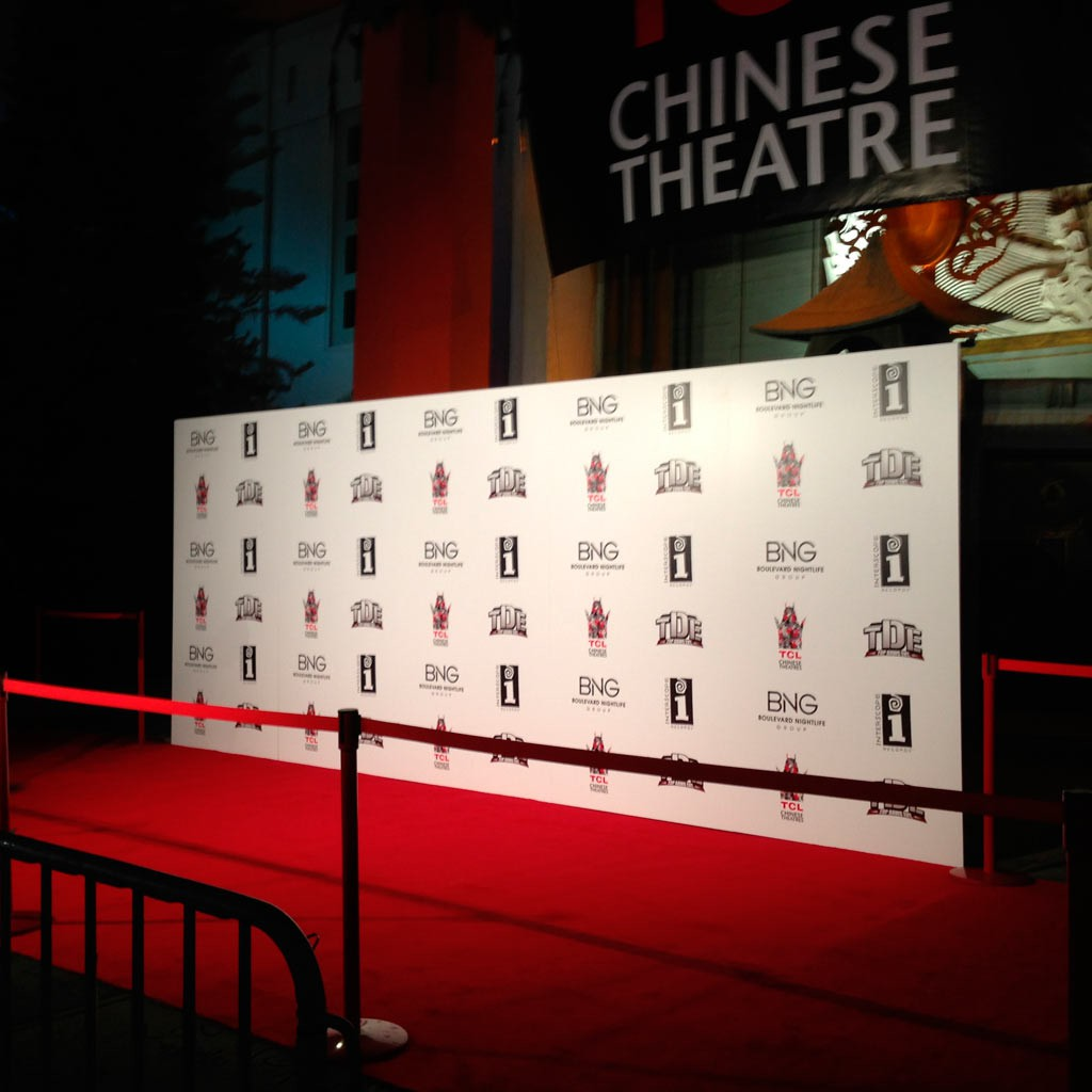 8x8 FT Custom Full Color Fabric Step and Repeat Backdrop