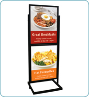 500 x 700 mm budget info board black