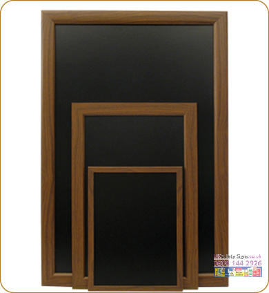 Budget chalkboard dark mahogany no graphics small sign