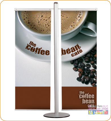 Banner set poster hangers silver 400 mm
