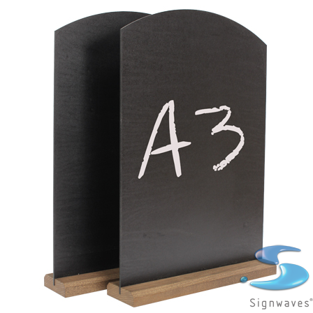 A3 counter table top chalk board and stand 2 pack