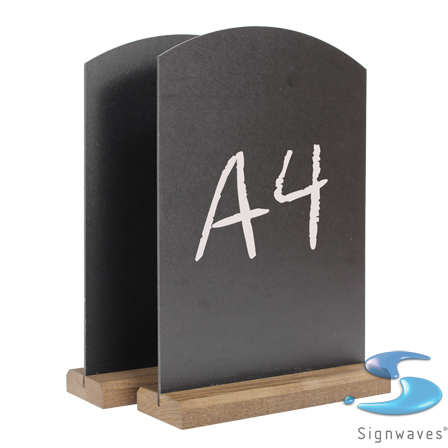 A4 counter table top chalk board and stand 2 pack