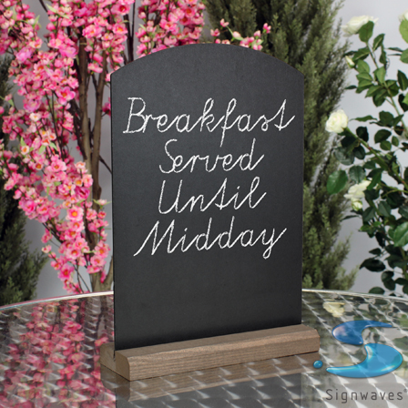 A3 counter table top chalkboards wooden sign