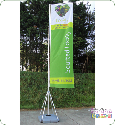 Giant pole 1150 x 5400 x 800 mm no graphics sign
