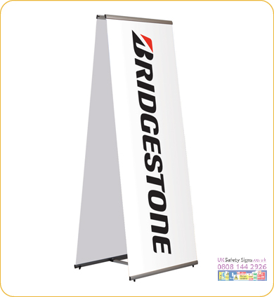 Quick banner two sided 600 x 1970 mm no graphics