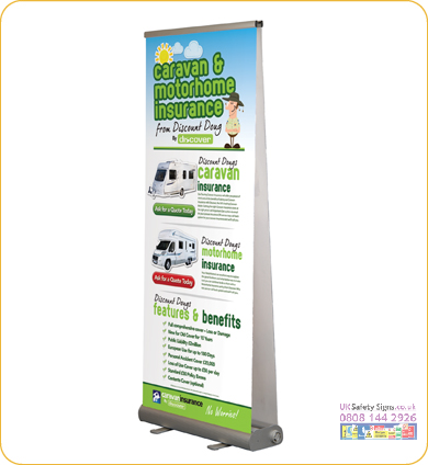 Smart roll up banner 800 x 1930 mm no graphics
