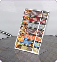 Tilt talkers A4 landscape with front pocket no graphics sign
