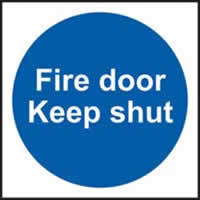 Fire door Keep shut Multipack of 20 self-adhesive vinyl 100 x 100mm