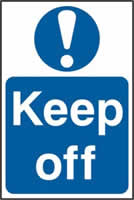 Keep off sign 1mm rigid PVC self-adhesive backing 200 x 300mm