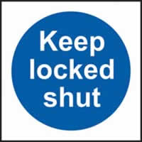 Keep locked shut self-adhesive vinyl 100 x 100mm