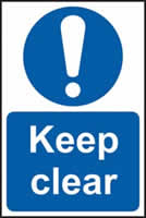 Keep clear self-adhesive vinyl 200 x 300mm