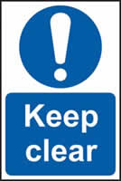 Keep clear sign 1mm rigid plastic 200 x 300mm
