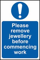 Please remove jewellery before commencing work self-adhesive vinyl 200 x 300mm
