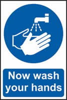 Now wash your hands self-adhesive vinyl 200 x 300mm