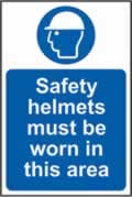 Safety helmets must be worn in this area sign Correx 200 x 300mm