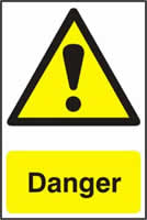 Danger - PVC 200 x 300mm sign made from 1mm rigid PVC