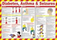 Safety Poster - Diabetes Asthma & Seizures made from Laminated Poster