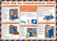Safety Poster - First Aid for Construction Sites Laminated Poster