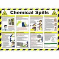 Safety Poster - Chemical Spills Laminated Poster