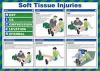 Safety Poster - Soft Tissue Injuries Laminated Poster