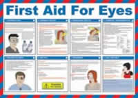 Safety Poster - First Aid for Eyes Laminated Poster