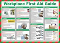 Safety Poster - Workplace First Aid Guide Laminated Poster