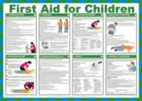 Safety Poster - First Aid for Children Laminated Poster