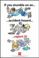 RoSPA Safety Poster - If you stumble on an accident Paper Laminated Poster