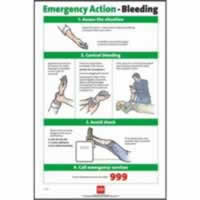 RoSPA Safety Poster - Emergency Action Bleeding Laminated Laminated Poster