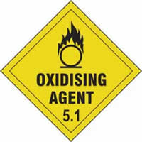 Oxidising Agent 5.1 - s/a vinyl - Diamond 200 x 200mm label made from self-adhesive vinyl