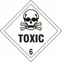 Toxic 6 - s/a vinyl - Diamond 100 x 100mm label made from self-adhesive vinyl
