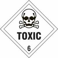 Toxic 6 - s/a vinyl - Diamond 200 x 200mm label made from self-adhesive vinyl