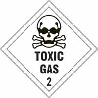 Toxic Gas 2 - s/a vinyl - Diamond 100 x 100mm label made from self-adhesive vinyl