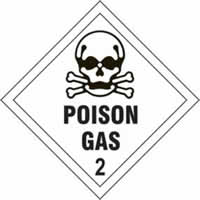 Poison Gas 2 - s/a vinyl - Diamond 100 x 100mm label made from self-adhesive vinyl