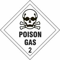Poison Gas 2 - s/a vinyl - Diamond 200 x 200mm label made from self-adhesive vinyl