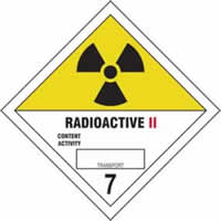 Radioactive II 7 - s/a vinyl - Diamond 200 x 200mm label made from self-adhesive vinyl