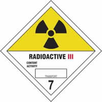 Radioactive III 7 - s/a vinyl - Diamond 100 x 100mm label made from self-adhesive vinyl