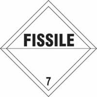 Fissile 7 - s/a vinyl - Diamond 100 x 100mm label made from self-adhesive vinyl