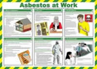 Safety Poster - Asbestos at work Laminated Poster