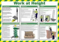 Safety Poster - Work at height Laminated Poster