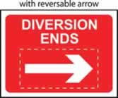 Diversion Ends with reversible arrow - Classic Roll up traffic sign 1050 x 750mm Triflex roll up sign