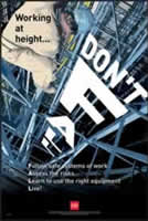 RoSPA Safety Poster - Don't fall - Paper Laminated Poster