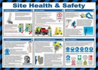 Safety Poster - Site health & safety - LAM 590 x 420mm