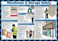 Safety poster - Warehouse & storage safety - LAM 590 x 420mm