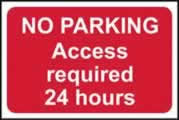 No parking Access required 24 hours - rigid 1mm rigid plastic sign - 600 x 400mm made from 1mm rigid PVC
