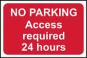 No parking Access required 24 hours - rigid 1mm rigid plastic sign - 600 x 450mm made from 1mm rigid PVC