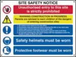 Composite site safety notice - 3mm foamex sign 800 x 600mm 3mm foamex board