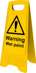 Heavy Duty A-Board - Warning Wet Paint