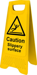 Heavy Duty A-Board - Caution Slippery Surface