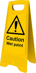 Heavy Duty A-Board - Caution Wet Paint